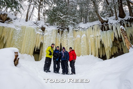 Team Reed at the Eben Ice Caves