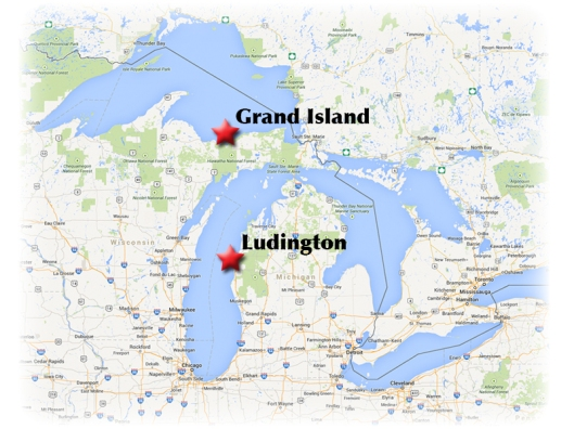 Google map_Ludington-Grand Island